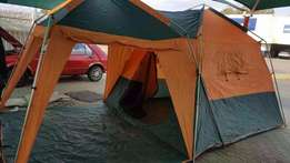 4Man Tent (5x3m) Orange and green