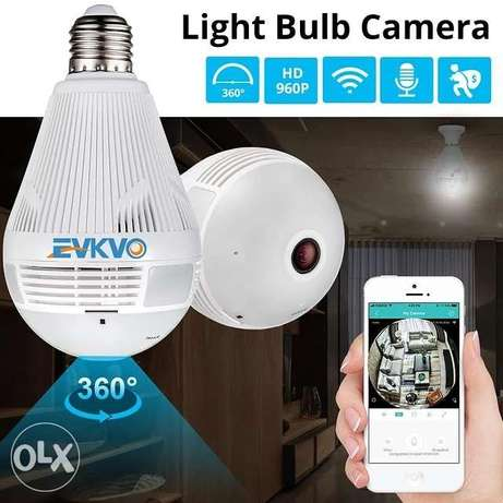 EVKVO 360 Degree LED Light 1080P Wireless Panoramic Home Security Secu