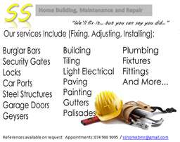 For Home and Building Upgrades and Maintenance!!