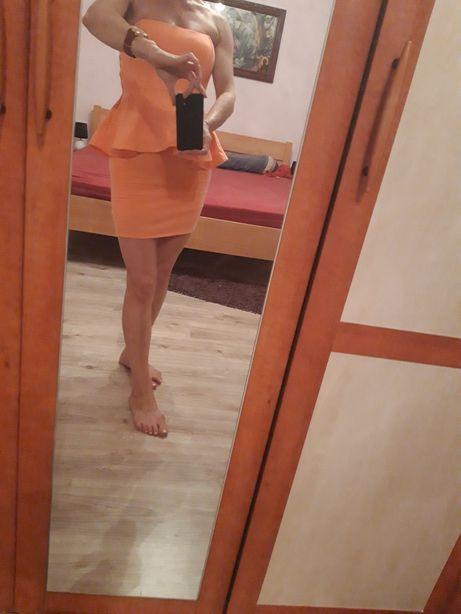 Sukienka Zara neon Doda Giżynek • OLX.pl