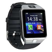 Silver DZ09 Bluetooth Smart Watch with Single SIM