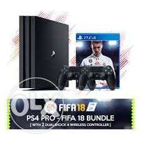 Ps4 pro 1TB bundle plus FIFA 18 plus 2 pads