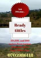 Selling plots at Maguguni with ready tittles