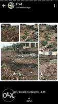 Half plot of land for sale at obawole