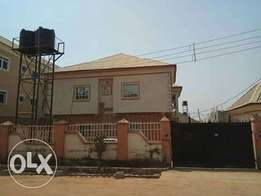 A 4 units with two bedroom flats each in lugbe Federal Housing Estate