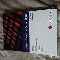 Textbook for sale: About Financial Accounting Vol 1 4th edition