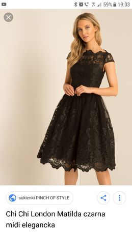 7eacfdba91 Chi Chi London Matilda sukienka czarna studniówka bal 42-44 Raszyn - image 1