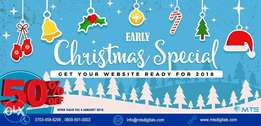 Advanced Website Design / Website Development with 50% Christmas promo