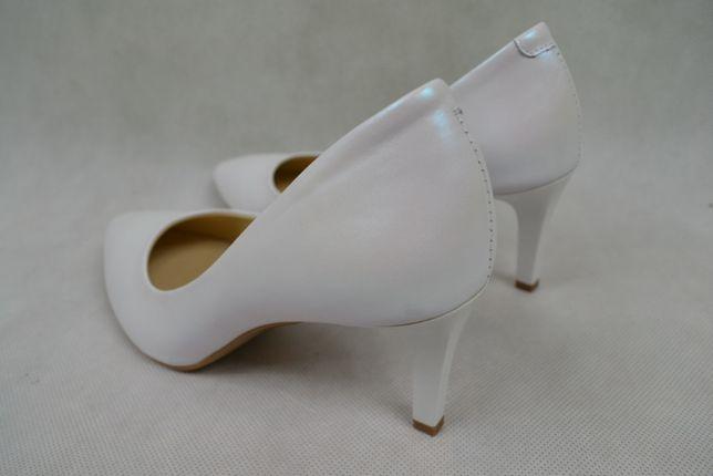 b359ea05 Czółenka ślubne 37 buty ślubne białe Neścior 78H rozmiar 35-40 Częstochowa  - image 2