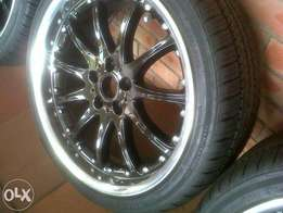 19 inch mags with brand new tyres