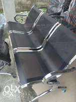 3in1 Black Reception Visitors Chair