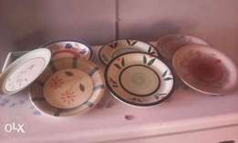 Seven breakable plates for sell
