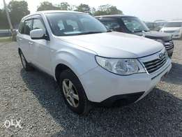 Subaru Forester Year 2010 Model Automatic 4WD Pearl White Color