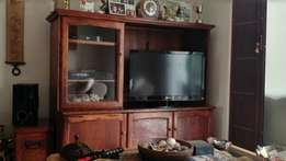 Solid Wooden TV Display unit
