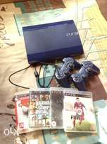 Slimline playstation 3 with 2 controls and 4 games for only R1899