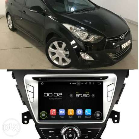 """Dvd player 8"""" inch android 8.1 (2g+16h) elantra 12&13"""