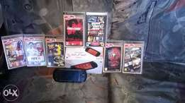 PSP STREET(charcoal black) with 7 games