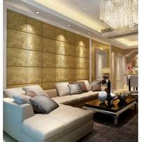 3D Leather wall panel at Walex Decor