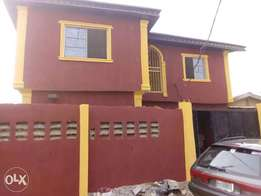 Decent 3 bedroom duplex off Oko filling bus stop, Isheri olofin