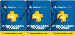 Playstation PS Plus Subscriptions , PSN, Xbox Live Gold And Top Ups