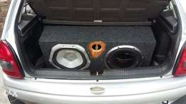 """2x 12"""" subs and 2000w monoblok calibra stealth amp for sale"""