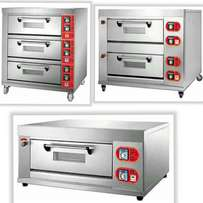 Gas deck bakery ovens with trays, brand new
