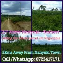 Katheri 2.7 Acres 5kms Away From Nanyuki Town Price 800k Per Acre