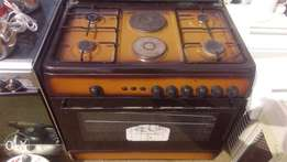 Clean POLYSTAR 6 unit gas and electric cooker with oven and grill