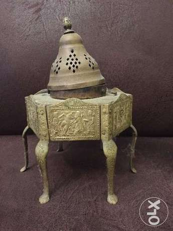 مبخرة تراثية نحاس قديم Old brass incense burner heritage أشرفية -  1