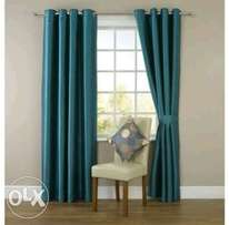 Plain elegant linen curtains