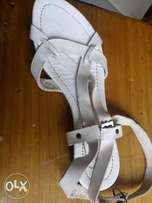 White Italian ladies sandals