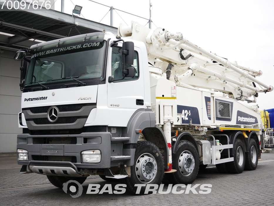 Mercedes-Benz Axor 4140 8X4 Putzmeister M 42-5 Manual Big-Axle Steelsus... - 2015