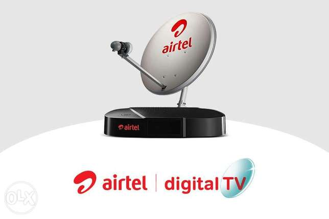 Airtel hd receiver with 5 month package & installation