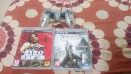 Ps3 controller and two games