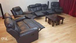 Sofa set - 7 seater Leather with a Lazy boy couch