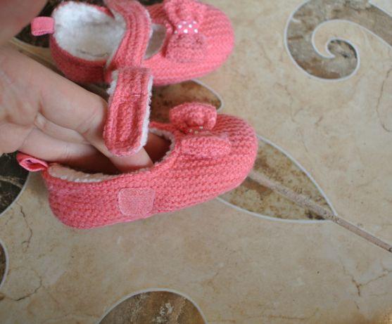38a735642 Яркие пинетки на меху 10см Bluezoo тапочки туфельки первая обувь осень  Ковель - изображение 4