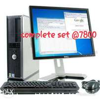 Dell cpu duocore 3.4ghz/1gb/80gb dvdwrt complete set, 17 inches tft
