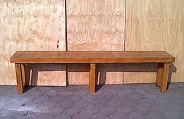 Patio bench Farmhouse series 2480 Stained