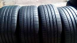 Set of 225/40/18 continental conticontactsport5 Tyres with 90% tread