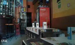 Running Bar, butchery ,Dstv in prime location Stock, 4Tvs ,Rent 15000