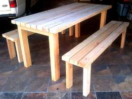 Rustic refectory table for sale! Seats 8 to 10 people.