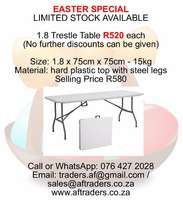 1.8 Plastic Fold Up Trestle Table Special