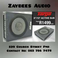 """Targa 8"""" 3000w Active Subwoofer with built in amp"""