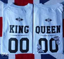 King and Queen couple's T-shirts