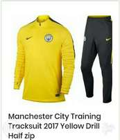 Brand new Manchester City training tracksuit Yellow Drill Half Zip