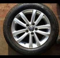Single Vw Polo vivo mag with tyre 14inch