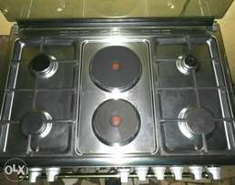Premium 2 electric & 4 burner gas Cooker with oven