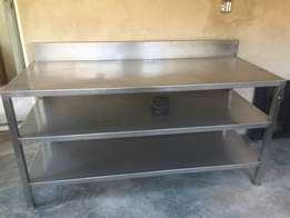 Steel catering tables x2