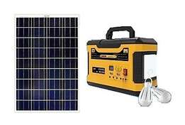 Saroda 100W Solar Inverter With Radio,Portable Solar Kit for Homes