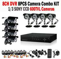 Cctv Combo Kits - 8 Channel Dvr Kit 8ch Dvr Incl 8x Bullet Cameras. CC